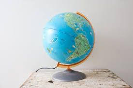 earth globes that light up vintage world light up globe l globe world map crams 1960s