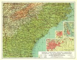 carolina south carolina tennessee map 1926 maps