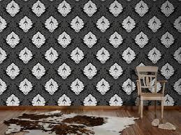 Wohnzimmer Tapeten Weis Vliestapete Barock Anthrazit Weiß Tapete Livingwalls Flock 4 5543