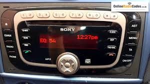 how to find ford radio code serial from the radio u0027s display sony