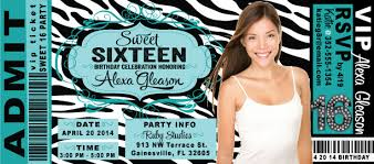 sweet 16 birthday party ticket invitation di 8053 harrison