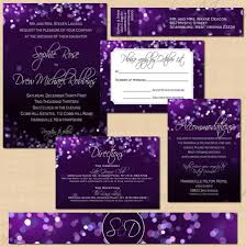 wrap party invitations purple night sky invitation suite rsvp inserts belly band wrap