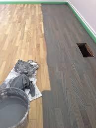 oak floor stained blue grey a kitchen ct ideas oak