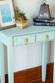 teal accent table chalk synthesis painted accent table old house to new home