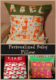 personalized pillows for baby pea pod sew easy personalized throw pillows for babies and