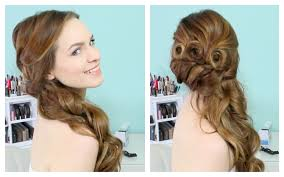side hairstyles for long hair for prom side swept cascading curls