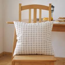 jeter un canapé style japonais bureau canapé coussins en coton à carreaux siège