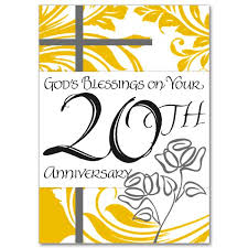 20th wedding anniversary god s blessings on your 20th anniversary 20th wedding anniversary