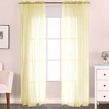 Light Yellow Sheer Curtains H Versailtex Premium Pale Yellow Sheer Curtains Sheer Voile