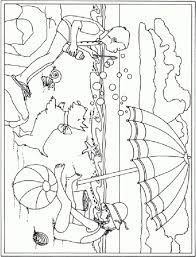 holiday scene coloring pages simple holiday colouring pages beach