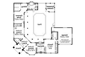 courtyard homes floor plans adobe house plans with courtyard homepeek