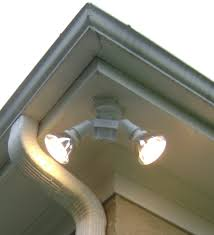 outdoor under eave lighting new eave mount flood light 46 with additional pole mounted led flood