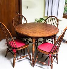 Retro Dining Room Furniture Vintage Dining Table By Walter Of Wabash With Moosehead Windsor