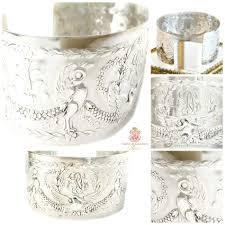 antique sterling silver cuff bracelet images Kdl antique french sterling silver swan monogrammed cuff bracelet jpg