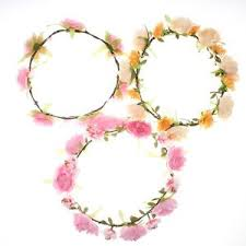 bridal garland girl kids band flower ring hair accessories wedding