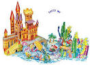 Fairy tale world,3D three dimensional puzzle, 3D paper models,3d ...