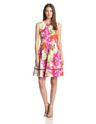 eliza j neelimas eliza j women s sleeveless floral printed fit and flare
