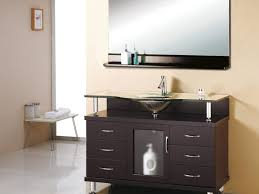 Chrome Bathroom Vanity by Faucet Appealing Square Black Teak Wood Single Sink Bathroom