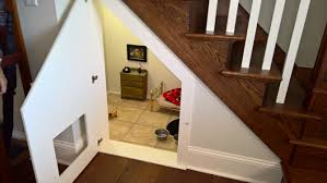 chihuahua has own bedroom under woman u0027s stairs like some kind