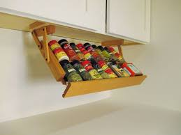 Wood Wall Mount Spice Rack Dining Room Cute Soping Shape Yellow Wood Wall Mounted Spice Rack