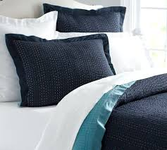 Navy Quilted Coverlet Modern Navy Blue Lightweight Quilt Coverlet Set Solid Navy Twin