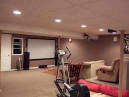 general basement home gym ideas complete with bicycle treadmill