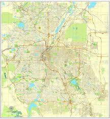 map us denver colorado printable map uscity plan editable adobe illustrator