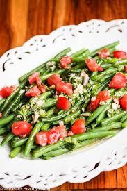 green bean tomato salad with maple basil dressing recipe