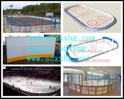 backyard ice hockey rink hdpe basketball rink fence hockey