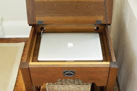 side table with laptop storage side table with built in storage furniture diy pinterest storage