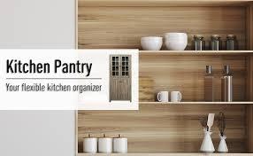 homcom kitchen pantry cupboard wooden storage cabinet organizer shelf white homcom freestanding kitchen pantry storage with 2 large cabinets 4 shelves framed glass doors and anti topple wood