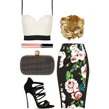 polyvore pencil skirt bing images