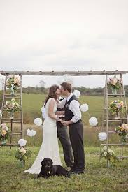 wedding arch log 40 chic ways to use ladder on rustic country weddings deer