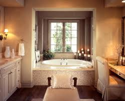 luxury master bathroom shower cream blind glass window glass vase