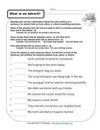 verb and adverb worksheet worksheets