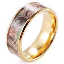 mossy oak wedding rings shardon titanium beveled his hers mossy oak camo gold color