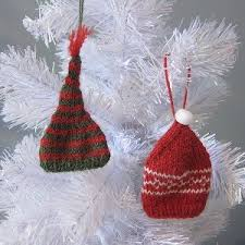 tiny toque ornaments allfreeknitting
