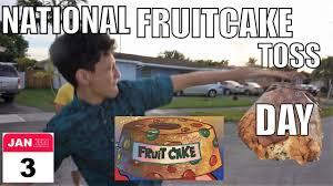 Fruitcake Meme - annual fruitcake toss contest youtube