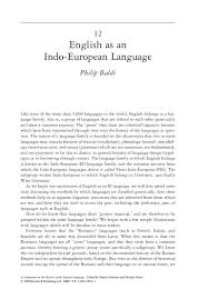 Indo European Languages Family Tree Map by English As An Indo European Language Text