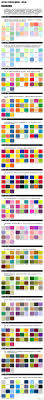 4 designer web design commonly used color matching table