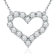 platinum heart necklace images Diamond heart pendant 14k white gold 1 60ctw platinum jewelers jpg