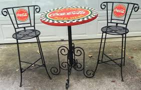 coca cola table and chairs coca cola bar stoolscoca furnituretables booths throughout table for