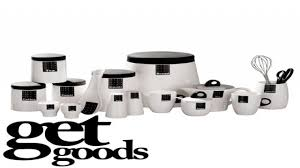 Black Kitchen Canisters by Black And White Kitchen Decor Black And White Kitchen Canisters