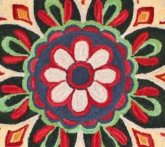 Round Flower Rugs Farmhouse Flower Round Rug Farmhouse And Cottage