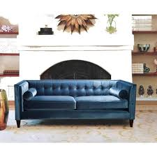 great blue tufted sofa with blue velvet tufted sofa products