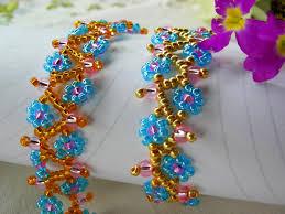 flower beaded bracelet images Free pattern for necklace spring flowers beads magic jpg