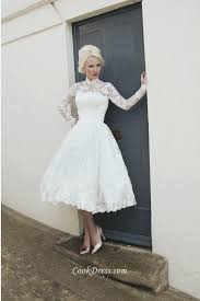 high neck floral lace patterns a line lace wedding dress with