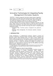 innovative technologies for integrating facility management