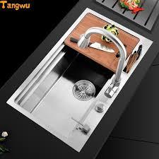 stainless steel hand sink tangwu kitchen 304 stainless steel hand sink single trough big wash