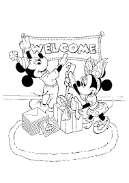 mickey minnie coloring pages christmas coloringstar